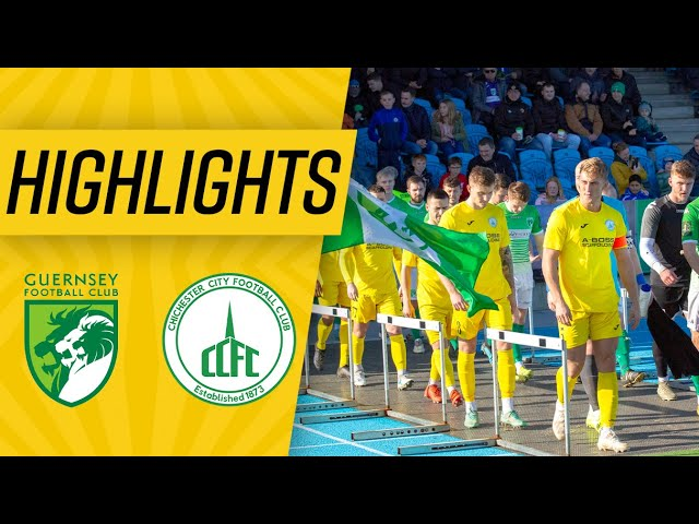 Highlights: Guernsey 0-3 Chichester City FC