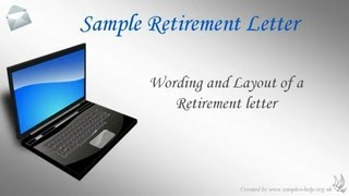 How to write a Retirement Letter