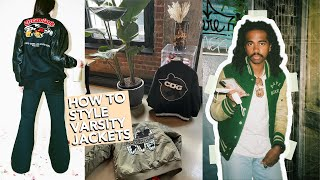 How to Style Varsity jackets | Where to buy Vintage & streetwear Letterman jackets