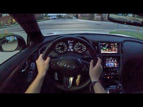 2021 Infiniti Q60 Red Sport 400 AWD - POV Night Drive (Binaural Audio)