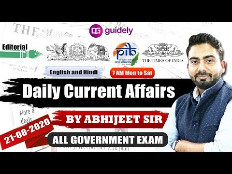 Daily Current Affairs | 21 August Current Affairs 2020 | IBPS | SSC | CA by Abhijeet Sir
