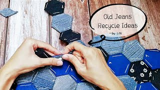 Old Jeans Recycle Ideas ┃Best Out of Waste Old Clothes Reuse 古いジーンズの再利用 ┃ 오래된 청바지의 재사용