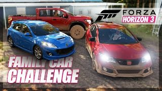 Forza Horizon 3 - Family Car Challenge! (Road Trip & Random Fun)