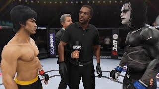 Bruce Lee Vs The Crow (Brandon Lee) ASTRONOMICAL!!! | EA Sports UFC 3