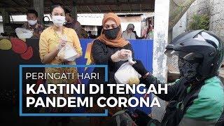 Peringati Kartini di Tengah Pandemi, Remaja Sinar Pamulang Kenakan Kebaya Bagikan Makanan Gratis