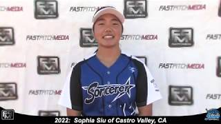 2022 Sophia Siu Athletic Middle Infielder and Third Base Softball Skills Video - Sorcerer Williams