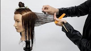 Razor Haircut Tutorial For Medium Length Hair