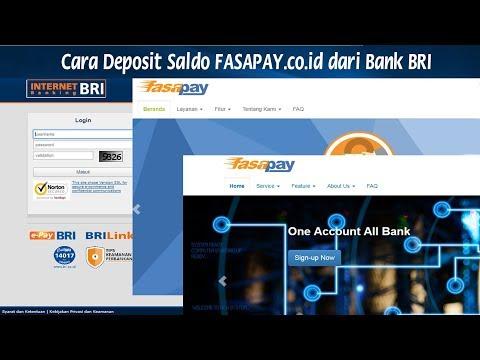 Cara Mengisi Saldo IDR FASAPAY co id dari Bank BRI