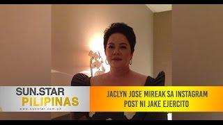 Jaclyn Jose mireak sa instagram post ni Jake Ejercito
