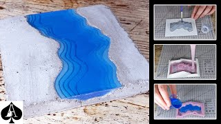 Making a Concrete & Resin River Coaster