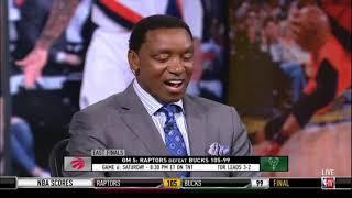 Ishiah Thomas SHOCKED by Kawhi Leonard carry Raptors to beat Bucks 105-99 with high-score 35 Pts