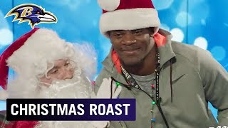 Lamar Jackson, Brandon Carr & More Get Roasted by Santa | Baltimore Ravens