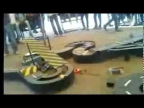 This was the Robo Race track during national level technical event Prometheus-2012 at Government Engineering College Aurangabad (GECA). Designed by Pramod, Akshay & Team.   Uploaded by Pramod J. on Sep 04, 2012   Government College of Engineering, Auranga