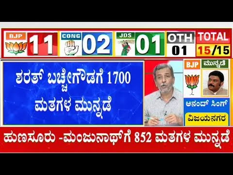 Sharath Bachegowda Leads From Hoskote Constituency | Karnataka By-Election Results Live