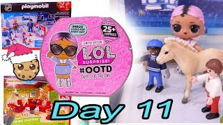 Day 11 ! LOL Surprise - Playmobil - Schleich Animals Christmas Advent Calendar - Cookie Swirl C