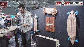 "ISPO 2018: ""Legende Longboards"" Alexandre Martin schnitzt individuelle Board-Shapes"