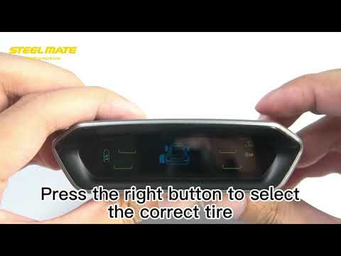 STEEL MATE Tire Pressure Monitoring System for RV Car - Solar Charge, Carbon Fiber Appearance, Auto Backlight & Sleep & Awake Mode