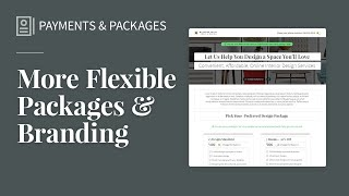 More Flexible Packages + Branding
