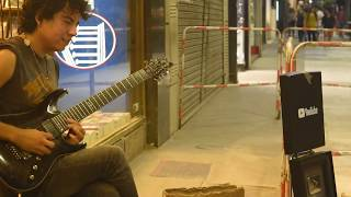 ABBA - Gimme Gimme Gimme - Cover ON THE STREET with my guitar
