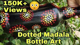 Simple Beginners Bottle Art/Easy Bottle Designing/Beautiful Quppi Craft/Home Decor Bottles/Gift Idea