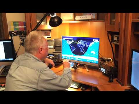 Contacting the International Space Station through a ham radio