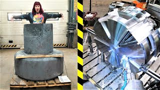 Machining HUGE 4 Ton Rock Drill Head with CNC machines