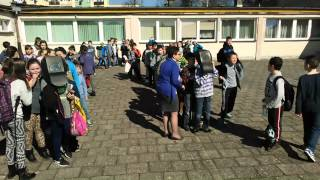 preview picture of video 'Szkoła Podstawowa Branice ZAĆMIENIE SŁOŃCA'