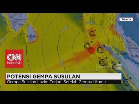BMKG Soal Potensi Gempa Susulan