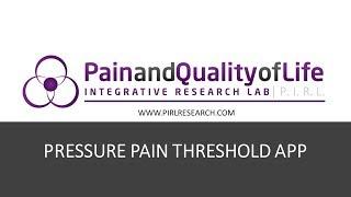 Pressure Pain Detection Threshold app explainer