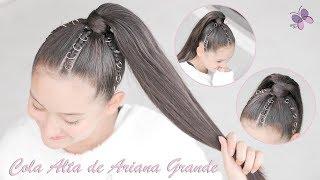 Coleta Alta De Trenzas Con Argollas: Peinado De Ariana Grande   Peinados Y Trenzas De Moda