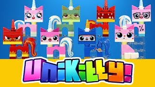 Unikitty! The LEGO Movie 2014 Unofficial Minifigures w/ Angry Kitty Queasy Kitty & Astro Kitty