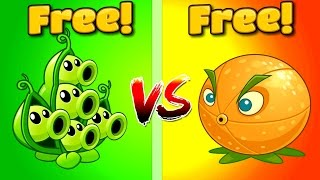 Plants vs Zombies 2 Gameplay CITRON VS PEA POD | Pomelo vs Vaina PVZ 2 Free vs Free Plants Primal
