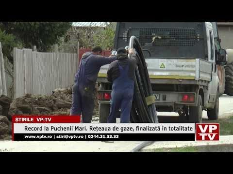 Record la Puchenii Mari. Rețeaua de gaze, finalizată în totalitate
