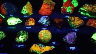 荧光矿物展览的虚拟之旅