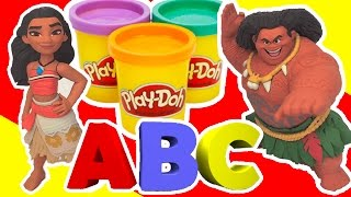 Learn ABC With Moana Educational Video - Play Doh Education Videos For Toddlers - Learn And Play