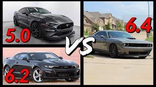 6.4 Hemi vs 6.2 LT1 vs 5.0 Coyote - Which motor is really the best?