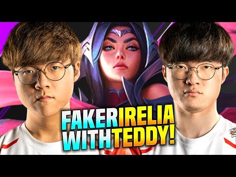 FAKER feat TEDDY EPIC COMEBACK! - SKT T1 Faker Plays Irelia vs Fizz Mid! | S10 KR SoloQ Patch 10.1