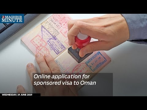Online application for a sponsored visa to Oman