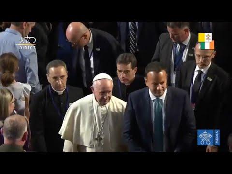 Le pape en Irlande : rencontre avec les autorités