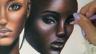 🌈 Colouring Skin Tones Using Prismacolor Pencils [Timelapse]