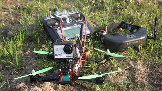 Наш первый полет по FPV на раме ZMR250. Бюджетный квадрокоптер!