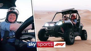 Johnny Herbert goes dune buggy driving in Abu Dhabi!