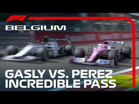 【動画】オールージュでオーバーテイクするピエールガスリー F1 2020 第7戦ベルギーGP(スパ・フランコルシャン)