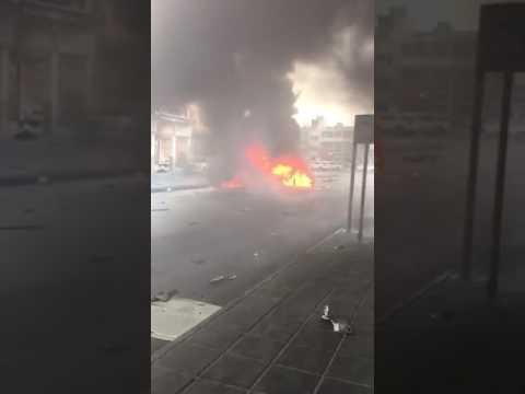 انفجار سيارة في سوق مياس بالقطيف