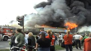 Mall Burning On Giant Fire In Finland