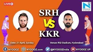 Live IPL 2019 Match 38 Discussion: SRH vs KKR | Sunrisers Hyderabad Wins Toss, To Field First