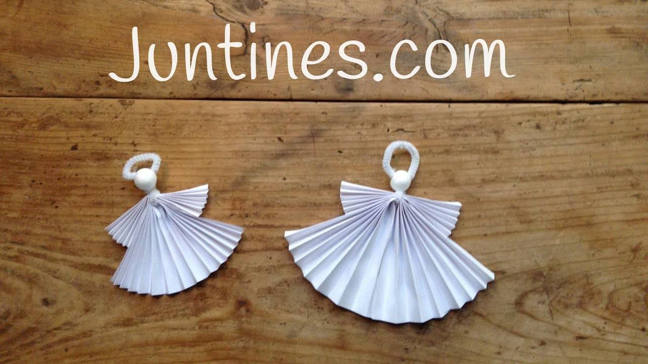 Ángel de origami fácil para niños