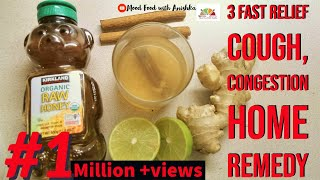 3 BEST Home Remedy for COUGH,CONGESTION, COLD|How to stop COUGHING in 5 min|घरेलू नुस्खा खांसी के