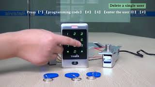 Tivdio Access Control  Touch Keypad  Silver