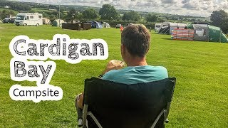 Cardigan Bay Campsite, Awning In A Storm, And Dolphin Watchning